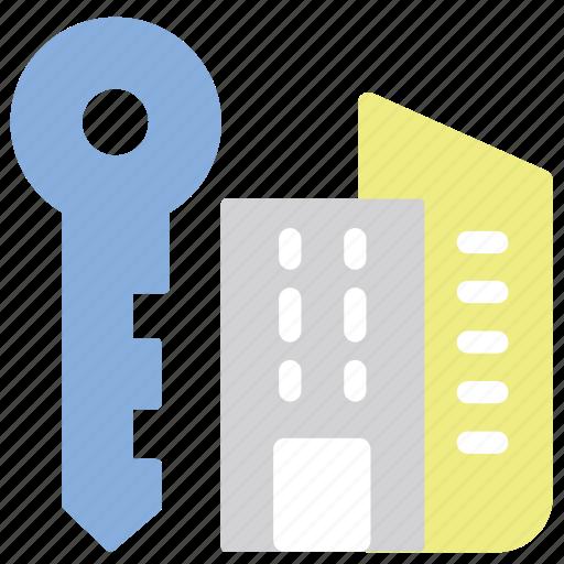 accomodation, apartment, house, key icon
