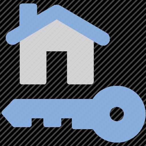 house, key, secure icon