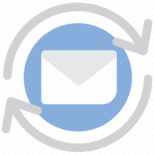 email, envelope, mail, message, refresh, reload icon