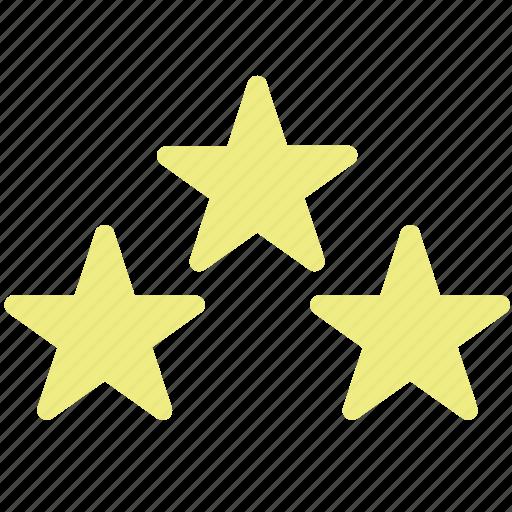favorite, special, stars, three icon