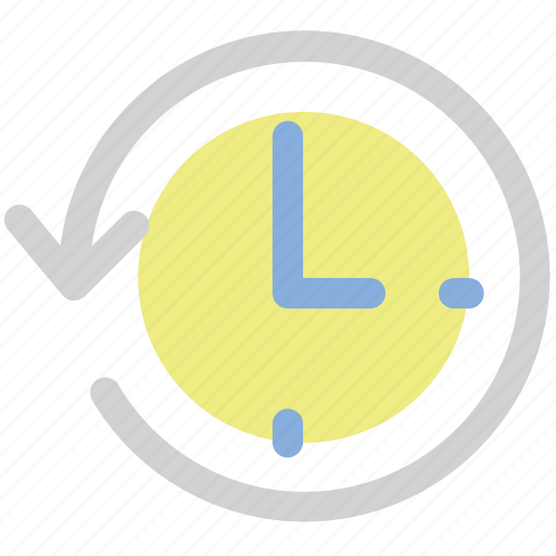 arrow, clock, counterclockwise, interface, refresh icon