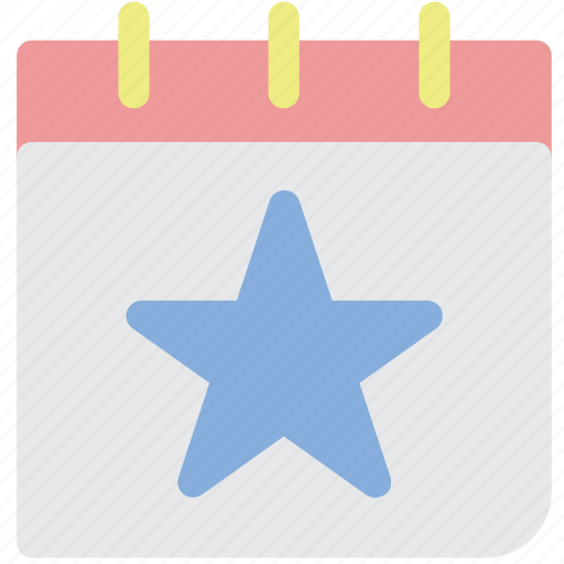 calendar, month, schedule, star, time icon