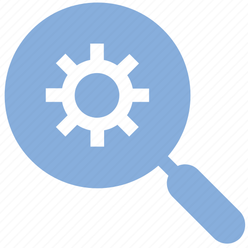 cog, find settings, maintenance, preferences, search settings icon