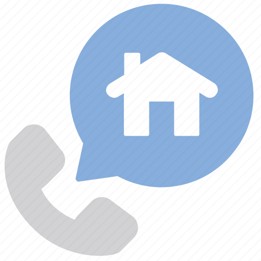 Call center, house, agency, real estate icon