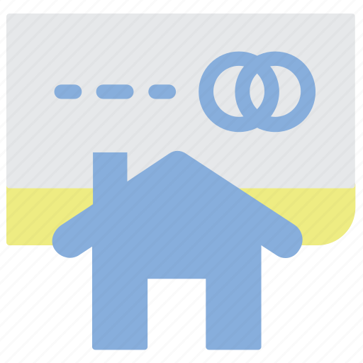 Cradit card, finance, home price, house, real estate icon - Download on Iconfinder