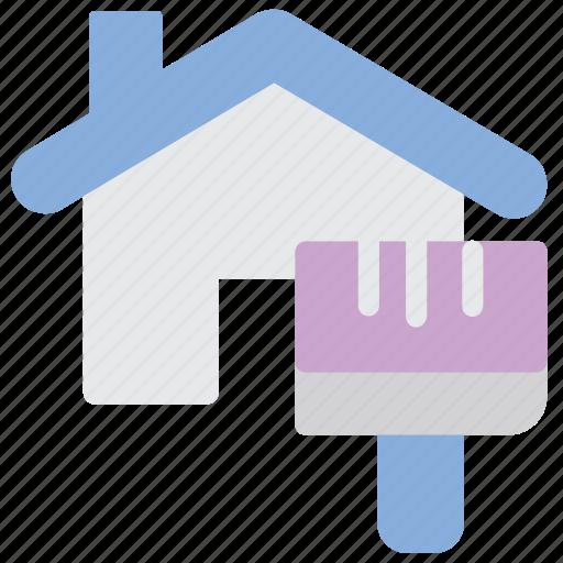 house, paint, renovation icon