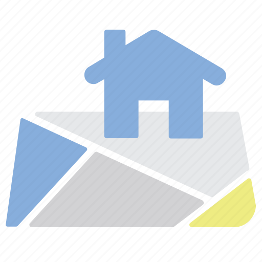 Home, property, location, map icon