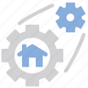 gear, house, setting, build, cog, home, options