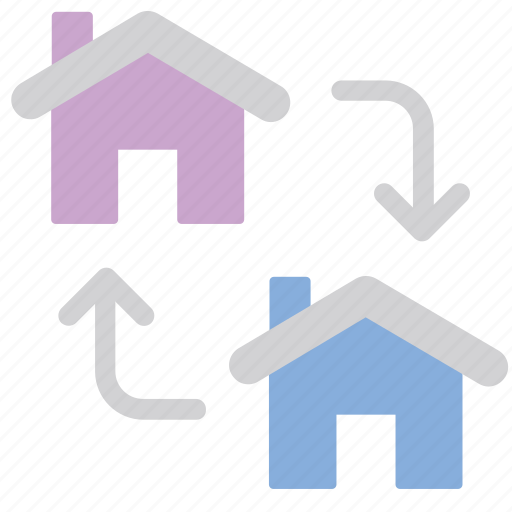 change, exchange, home, property icon