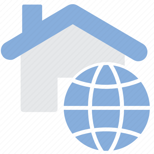 Building, company, global, real estate icon - Download