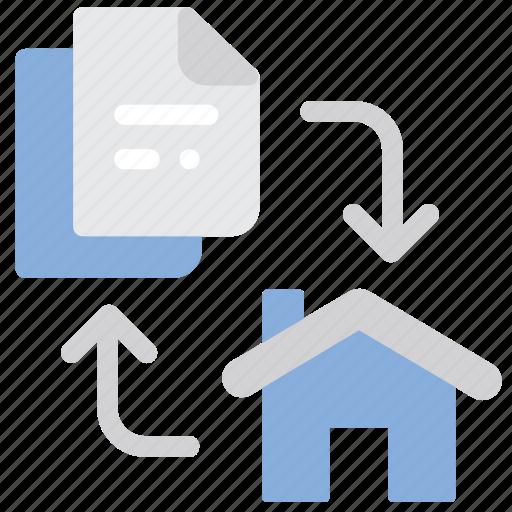 Home, property, change, exchange icon