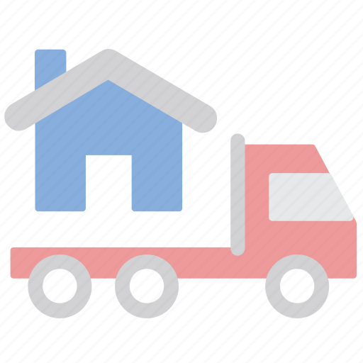 Home, moving, truck, relocation icon - Download