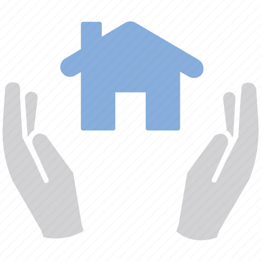 hands, house, protection icon