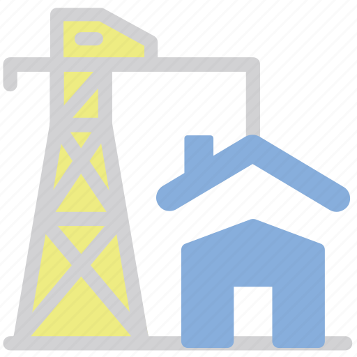 building, construction, house, real estate, tower crane icon