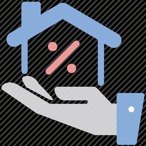 discount, percentage, property, sale icon