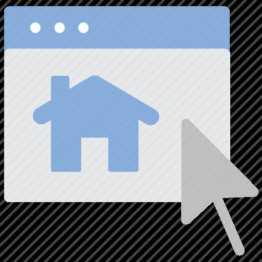 choose, home, laptop, real estate icon