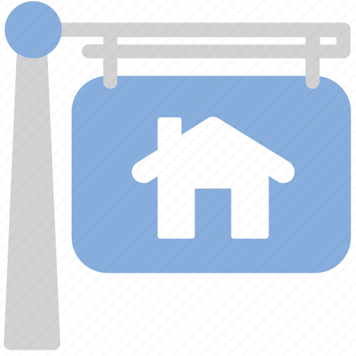 house, property, sign icon