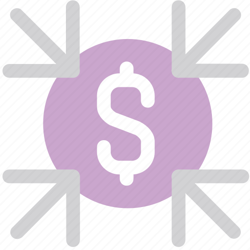 decrease, growth, money, saving icon
