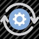 cog, cogwheel, refresh, refresh setting, update setting icon
