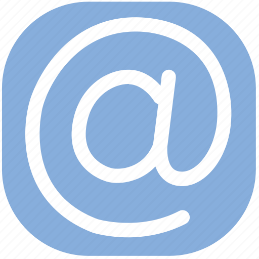 at, email, sign icon