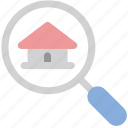 house, property, search icon