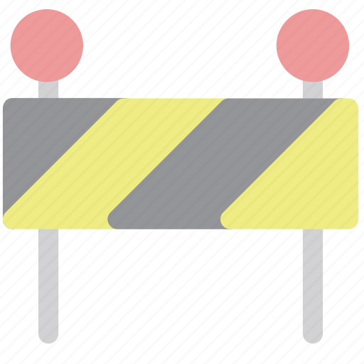 barrier, restricted, under construction icon