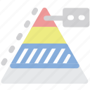 diagram, infographics, maslow, pyramid icon