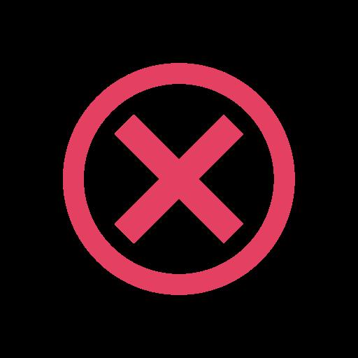 circle, close, cross, delete, incorrect, invalid, x icon