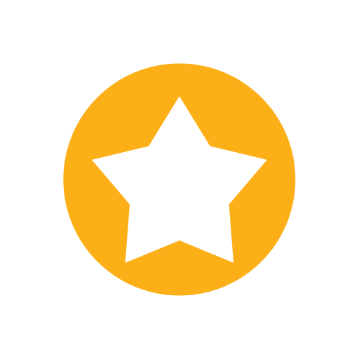 circle, favorite, five point, gold, star icon
