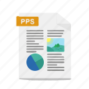 file, format, office, powerpoint, pps, presentation, slide icon