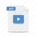 avi, file, format, movie, video icon