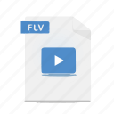 animation, file, flash, flv, format, movie, video icon