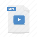 file, format, movie, mp4, video icon