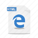 edge, file, format, htm, html, webpage, website icon