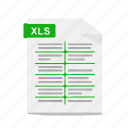 excel, file, format, office, spreadsheet, workbook, xls icon