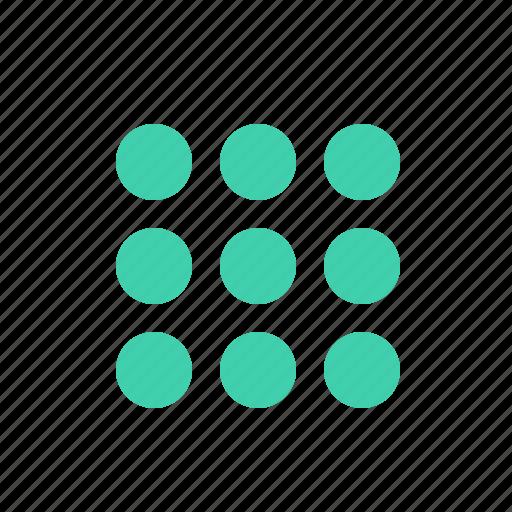 app, apps, grid, list, menu, tile icon