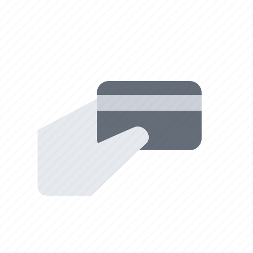 banking, card, commerce, hand, pay icon