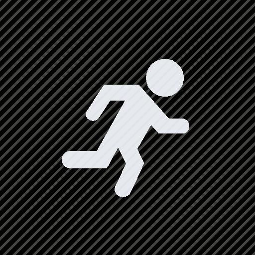human, man, person, run, running, user icon