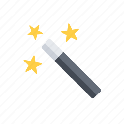 magic, magic wand, wand icon
