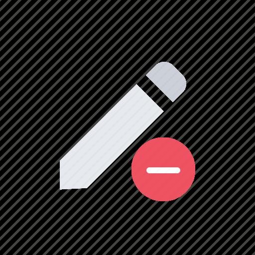 delete, message, minus, pencil icon