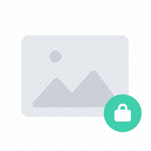 gallery, image, lock, photo, picture icon
