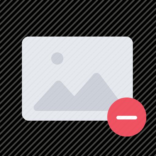 delete, gallery, image, minus, photo, picture icon