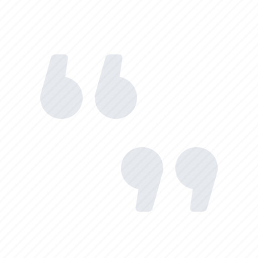quotation marks, quotes, type icon