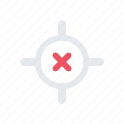 cross, define location, error icon
