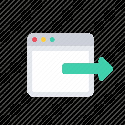 application, arrow, mac, out, window icon