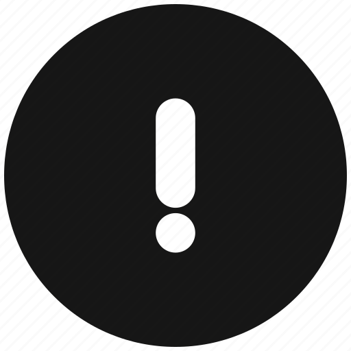 attention, round, sign icon