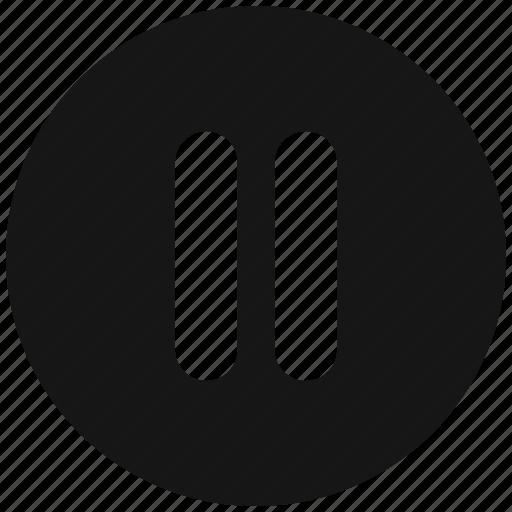 Hamburger, lines, menu, round icon - Download on Iconfinder
