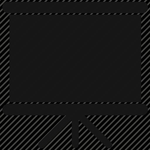 board, chalk, white icon