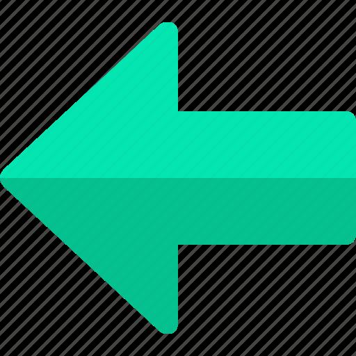 arrow, backward, left, previous icon