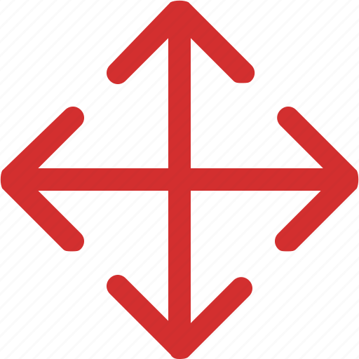 arrows, down, expand, left, right, up icon